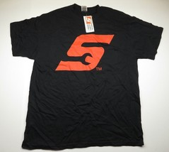 """NWT Wrench """"S"""" Logo Graphic Black T-Shirt Adult Men's Size XL Made in USA - $26.10"""