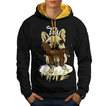 Cute Puppy Sweatshirt Hoody Funny Quote Men Contrast Hoodie - $23.99+
