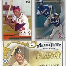 Hank Aaron Lot X3 Topps Baseball Cards Gold Label Allen Ginter NM - $14.99