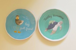 "Melamine Appetizer Side Plates 6"" Set of 6 Sea Turtle Sea Gull Choose Pa... - $23.32"