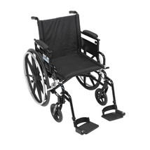 Drive Medical Viper Plus GT With Desk Arms and Footrests 18'' - $408.19