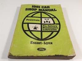1981 Ford Car Shop Manual Powertrain Pre-Delivery Maintenance Lubrication - $12.99