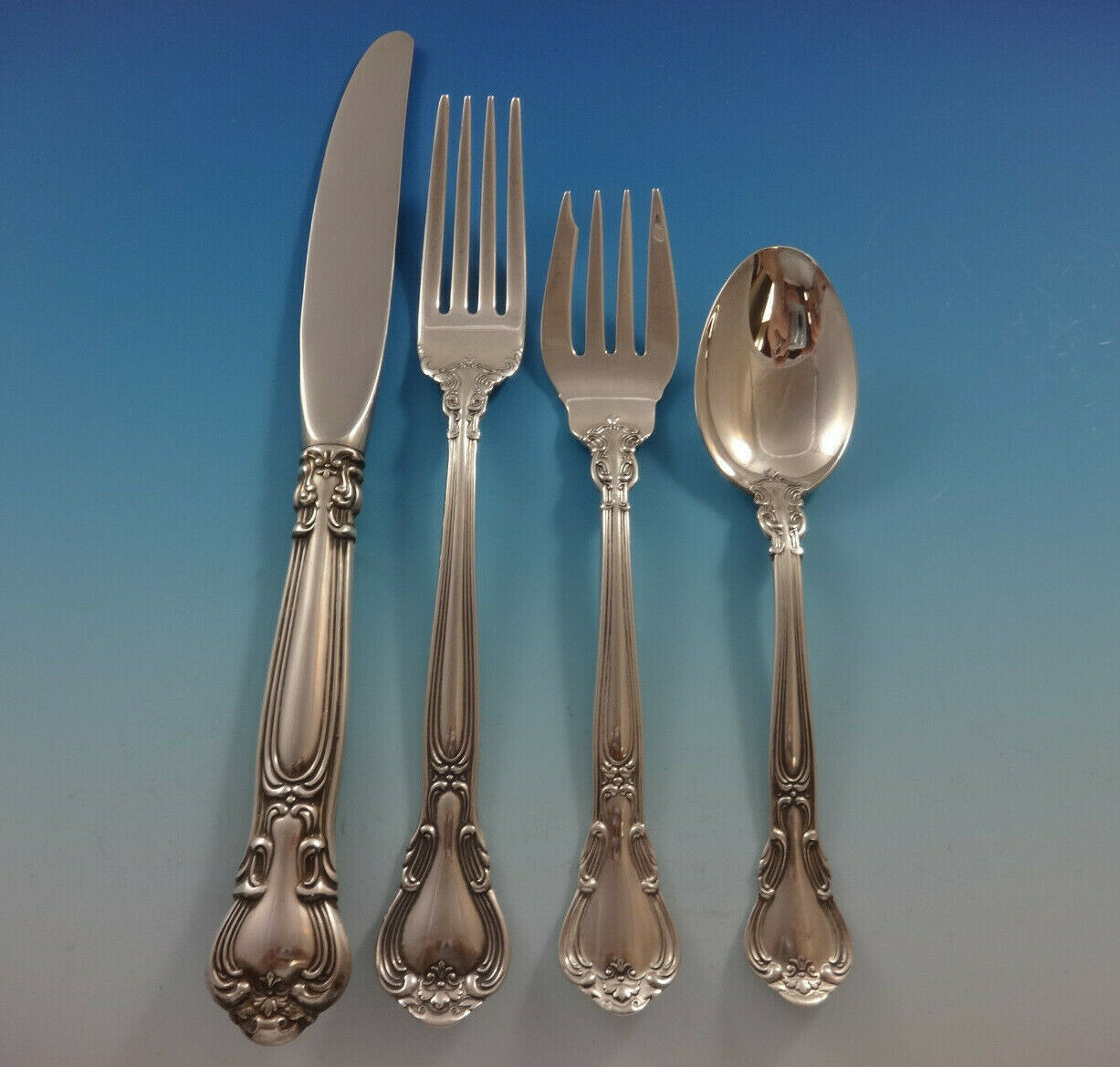 Chantilly by Gorham Sterling Silver Place Size Flatware Set 8 Service 42 Pcs image 4