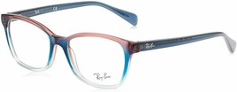 Ray-Ban RX5362 Square Eyeglass Frames - Blue/Red, Size 52mm - $194.99