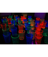 Assorted Neon Blacklight Reactive 10oz Party Cups 100ct - $14.95