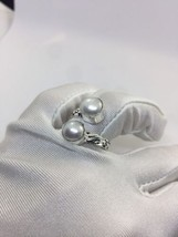 Vintage Silver Genuine White Pearl Adjustable Ring - $64.35