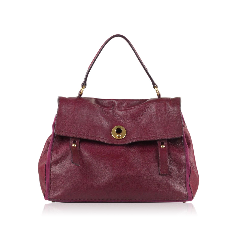 f5156ef369 Authentic Yves Saint Laurent Purple Leather Large Muse 2 Bag Handbag -   386.10