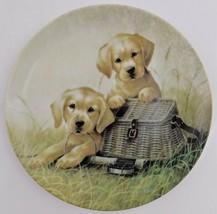 Knowles Gone Fishing Lynn Koatz Dog Plate Field Trip #1 Bradford Exchange 1991 - $29.70