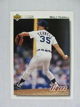 Walt Terrell Detroit Tigers 1992 Upper Deck Baseball Card 520 - $0.98