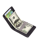 Mens  front pocket  Money Clip Genuine Leather Bifold Wallet Great gift ... - $6.92