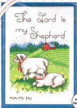 Bucilla The Lord Is My Shepherd Psalms Cross Stitch Kit 33227 Frame Bible Verse - $23.95