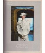 1983 Cache Mercedes & Adrienne Kim Charlton Sexy Hat Vintage Print Ad 1980s - $6.33