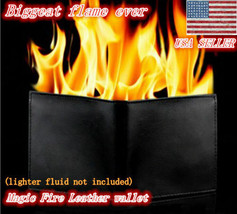Magic Trick Fire Flaming Wallet Leather Street Show Close up Magic Pros-... - $18.80