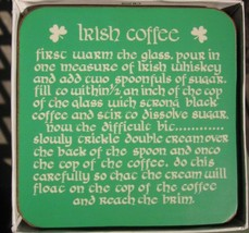 IRISH HERITAGE SERIES IRELAND 5 PIMPERNEL COASTERS IRISH COFFEE ST PATRI... - $9.49