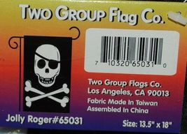 Two Group Flags Co 65031 Jolly Roger Indoor Outdoor Nylon Banner image 3