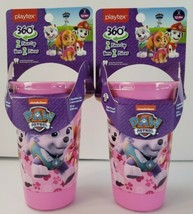 Set Of 2 Playtex 360 Paw Patrol Pink Spoutless Sippy Cups - $10.63