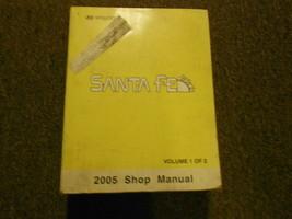 2005 Hyundai Sanata Fe Service Reparatur Manuell Fabrik OEM Buch 05 Vol 1 - $79.15