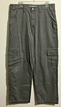 Levis Silvertab Khaki Gray Pants Mens 36X34 Chinos Trousers 100% Cotton - $24.74
