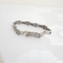 silver bracelet Hand Signed 925 Decorated with Swarovski stones - $39.60
