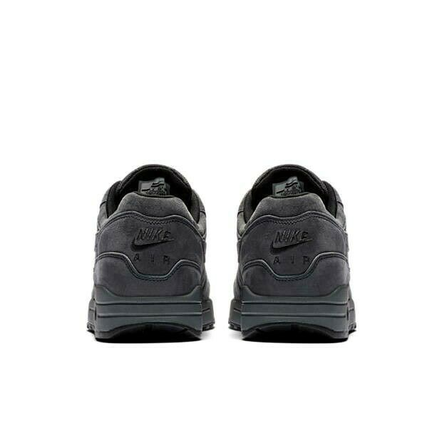 NIKE AIR MAX 1 PREMIUM ANTHRACITE BLACK SUEDE SIZE 12 BRAND NEW (875844-010) image 3