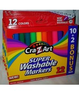 Wholesale lot of 6 packs Cra-Z-Art Super Washable Markers non-toxic 12 c... - $17.82
