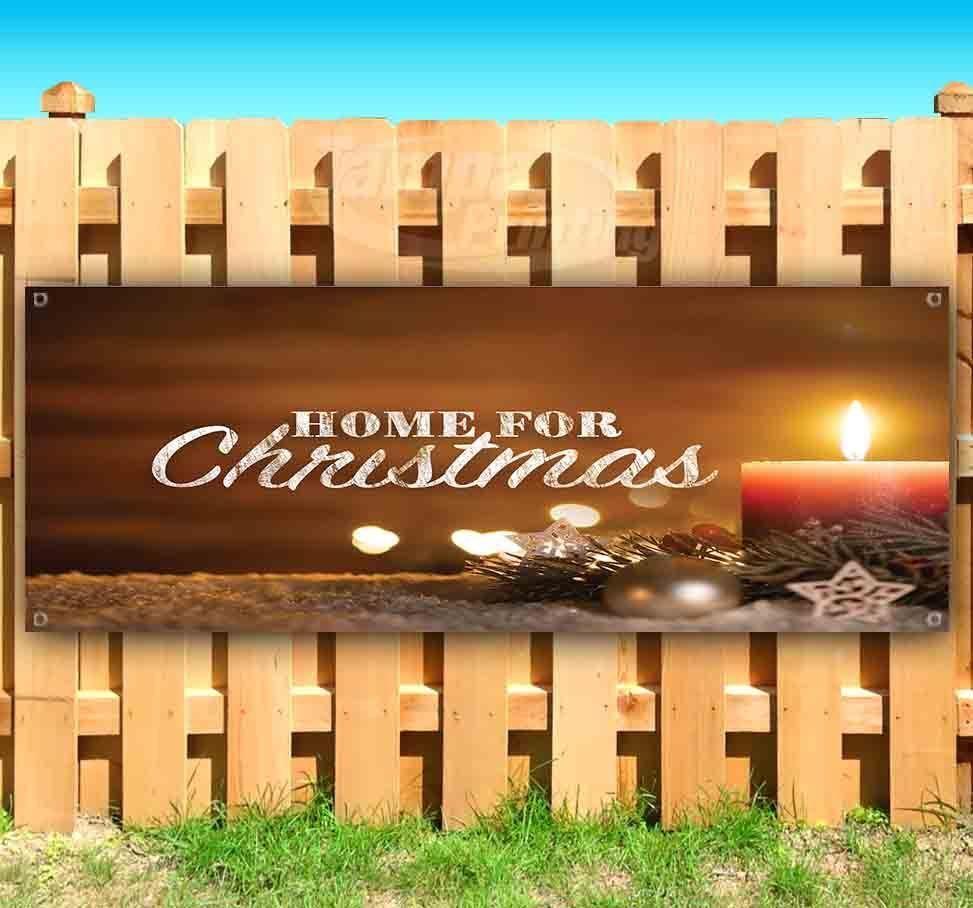 HOME FOR CHRISTMAS Advertising Vinyl Banner Flag Sign Many Sizes CHURCH
