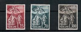 1961 St Leo Defying Attila Set of 3 Vatican Stamps Catalog Number 301-03 MNH