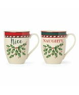 Lenox Holiday Gifts Collection Naughty And Nice Mugs - $41.04