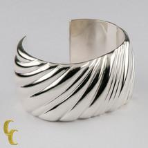 Auténtico Tiffany & Co Plata de Ley Espiral Puño Italia Retirado 15.9cm - $590.73