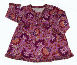 HANNA ANDERSSON PINK FLORAL FLOWER TOP SHIRT GIRLS SIZE 160 12 14 NEW - $19.79