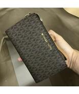 New Michael Kors Double Zip Phone Wallet Wristlet Jet Set Travel $178 - $51.99+