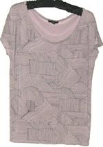 Women's Grayprinted Scoop Neck Top Size M Gap - $11.00