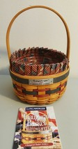 Longaberger 1997 Inaugural Basket #15326 With Liner & Protector  - $16.00