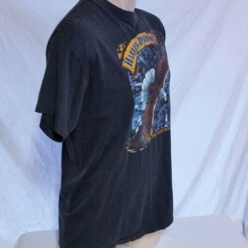 VTG 1988 Harley Davidson 3d Emblem T Shirt Eagle Soars Alone 50/50 Biker 80s XL image 7