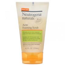Neutrogena, Naturals, Acne Foaming Scrub, 4.2 fl oz (124 ml) - $17.68