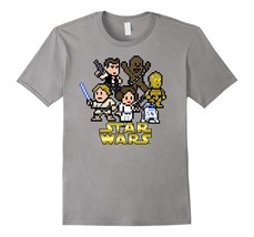 Star Wars Heroes 8-Bit Logo Graphic T-Shirt Men - $17.95+