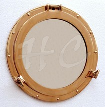 "Brass 12/"" Maritime Brass Porthole Round Window Glass Boat Ship Cabin Window"