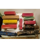 11 Strombecker Wood Train Engine, Cars and Caboose Clean Good Condition ... - $89.99