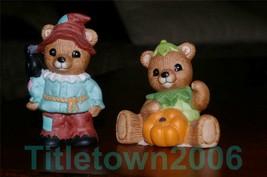 Homco 2 Halloween Bears 1426 RETIRED Home Interiors - $7.99