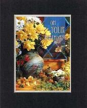 On Your Birthday. 8 x 10 Inches Biblical/Religious Verses set in Double ... - $11.14
