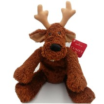 Hallmark Comet Reindeer Bean Bag Floppy Plush w Bell Christmas Holiday R... - $15.47