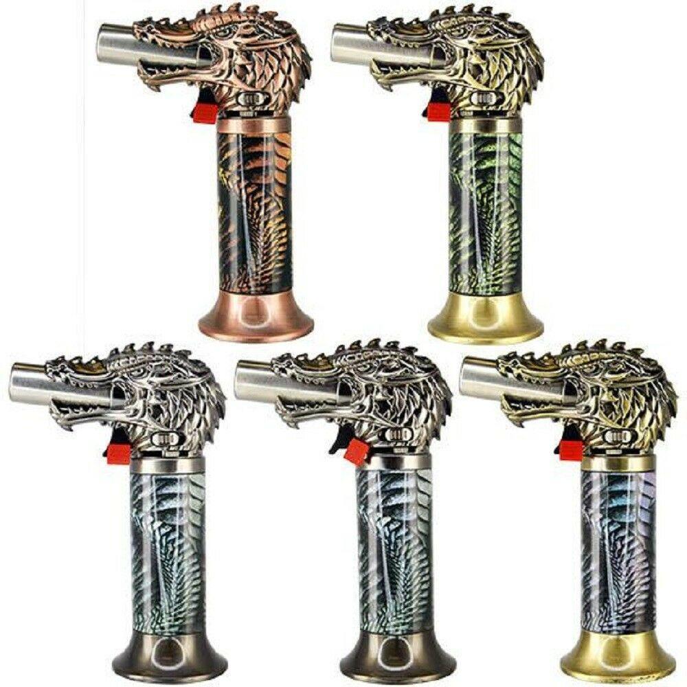 DRAGON HEAD JUMBO TORCH REFILLABLE BUTANE LIGHTER - ONE LIGHTER CHOSEN AT RANDOM