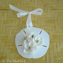 Sand Dollar Christmas Ornament Shell Flower Seashell Coastal Decor Beach... - $10.99