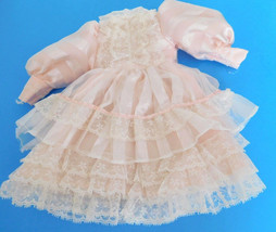 Modern Pink & White Lacey Frilly Dress for Medium Doll - $25.00