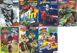 Lot of 7 Coloring Activity Books for Boys - Spiderman, Star Wars - Child... - $11.29