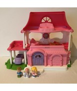 Fisher Price Little People Happy Sounds Sweet Home Pink Garage Car Mom D... - $24.99