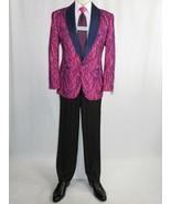 Manzini Insomnia blazer Stage Performer Formal Jacket Lace Design MZN111... - $89.97