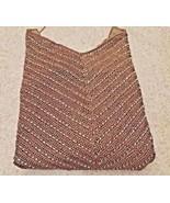 Vintage (90's) Ralph Lauren Black Label Brown Beaded Crochet Halter Top (S) - $140.25