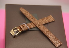 New Gucci 12 MM Genuine Lizard Leather Band in Tan  (12.111) - $24.95