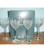 Waterford Seahorse Nouveau Water/Wine Goblet 4 PC. Set 40027974 New Boxed - $194.90